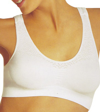 Microfiber Damask Crop Top Bra